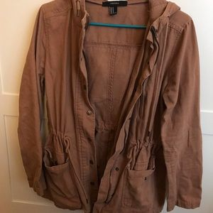Tan colored utility jacket